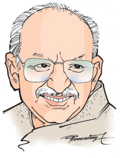 Cartoonist Yesudasan caricature by Thomas Antony (2008)